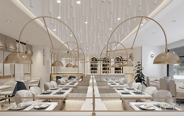 天津鹿园餐饮空间设计案例