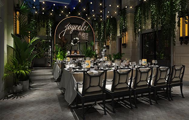 上海乔榭里音乐餐吧餐饮空间案例赏析