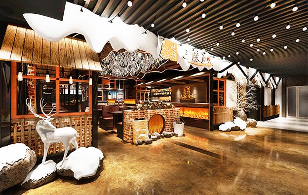 深圳三妹真火餐饮空间设计案例