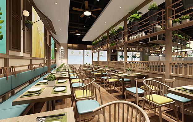深圳三餐知味餐饮空间设计