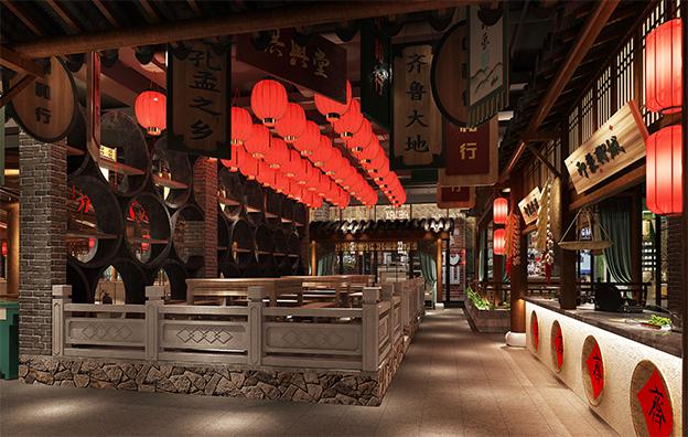 齐鲁印象主题餐饮空间设计案例